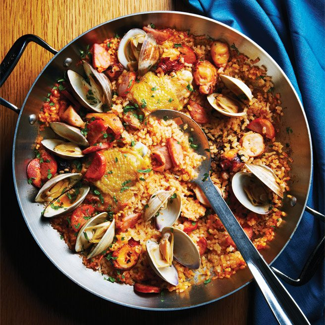 Recipe: Cava's killer octopus, chicken and clam paella