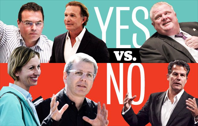 The definitive guide to the supporters and opponents of a Toronto casino