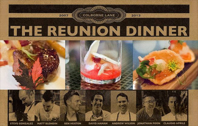 Colborne Lane Reunion dinner