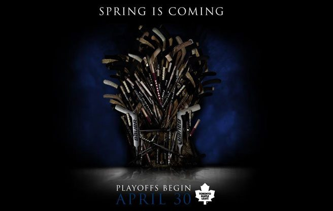 Toronto Maple Leafs stoke a little playoff excitement with a pair of bad-ass Game of Thrones-style pics