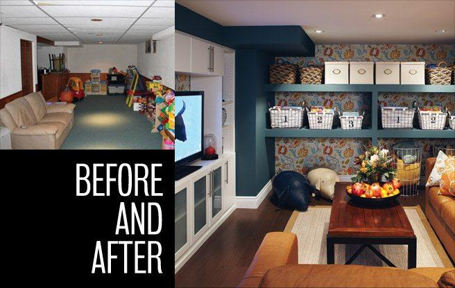 Extreme Makeover: a sad suburban basement gets a revamp courtesy of television's <em>Love It or List It</em>