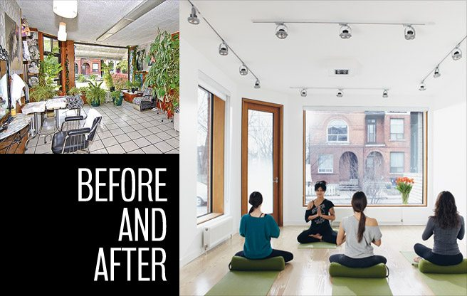 Extreme Makeover: a dated beauty salon gets a second life as a yoga studio