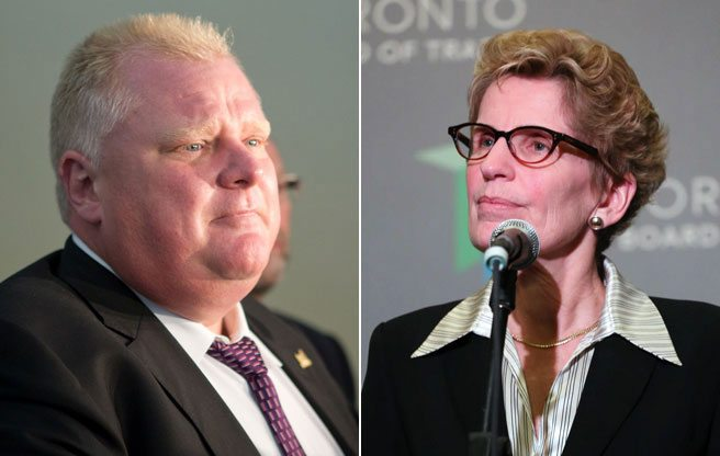 A timeline of Rob Ford and Kathleen Wynne's deteriorating relations