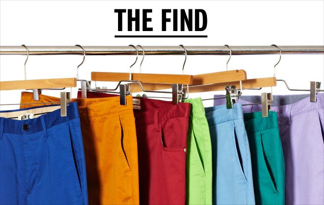 The Find: coloured chinos for men with bold style