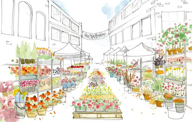 A monthly outdoor flower market is coming to Queen West this spring