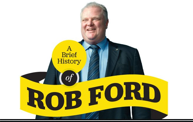 A tragicomic scrapbook of Rob Ford's crazy, blunder-filled mayoralty