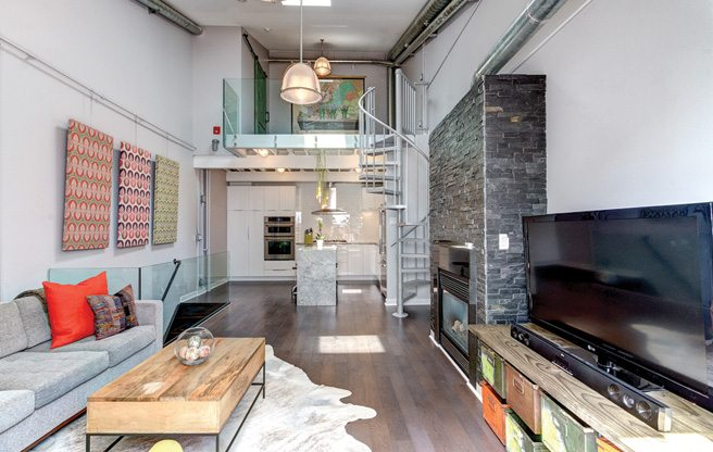 Condo of the Week: $715,000 for a three-level industrial loft on King West