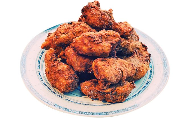 Must-Try: a heaping plate of crispy fried chicken served family style at Daisho