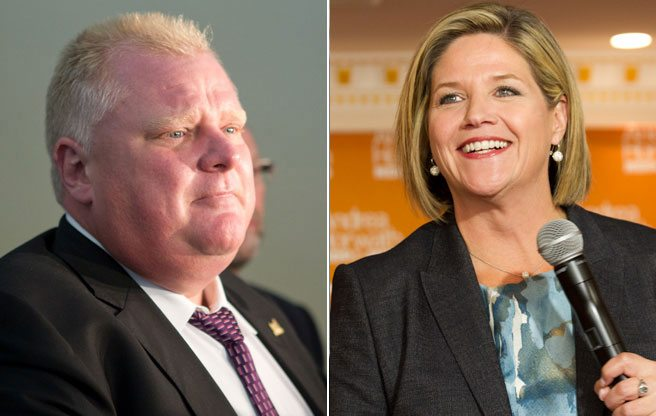 Rob Ford offers the provincial NDP advice: bring down the government