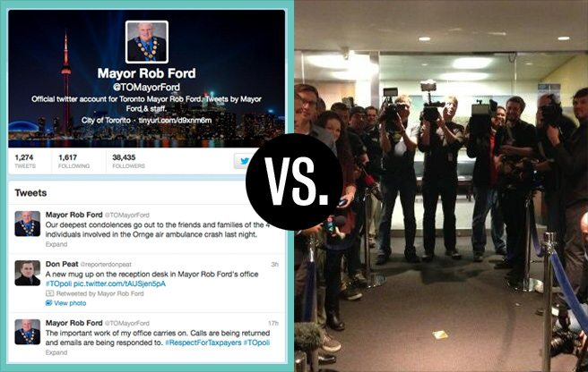 Rob Ford's Official Tweets Vs. Reality: a day-by-day comparison of the last two weeks