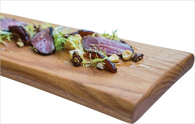 Must-Try: duck breast pastrami with foie gras terrine and pickled leeks at Scaramouche