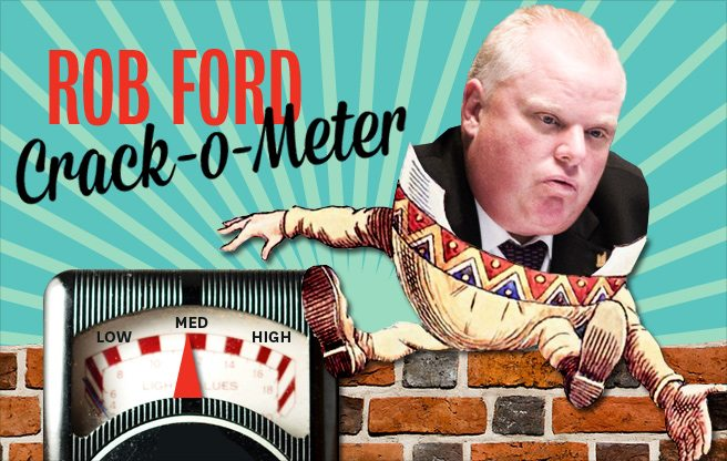 Rob Ford Crack-o-Meter: Ford runs like a schoolgirl and Sarah Thomson does something dumb