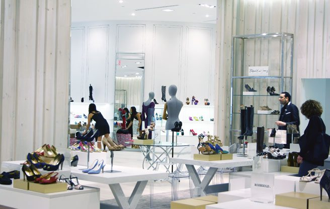 Hudson's Bay flagship shoe store