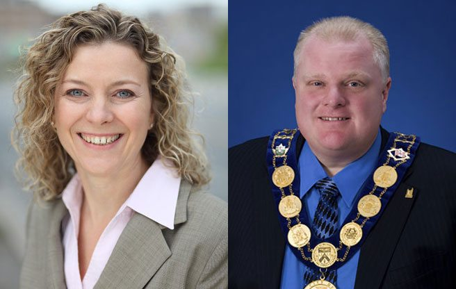 Rob Ford demotes Jaye Robinson (i.e. the councillor who publicly urged him to take a leave of absence)