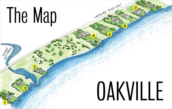 The Map: who lives where along Oakville's astronomically wealthy waterfront