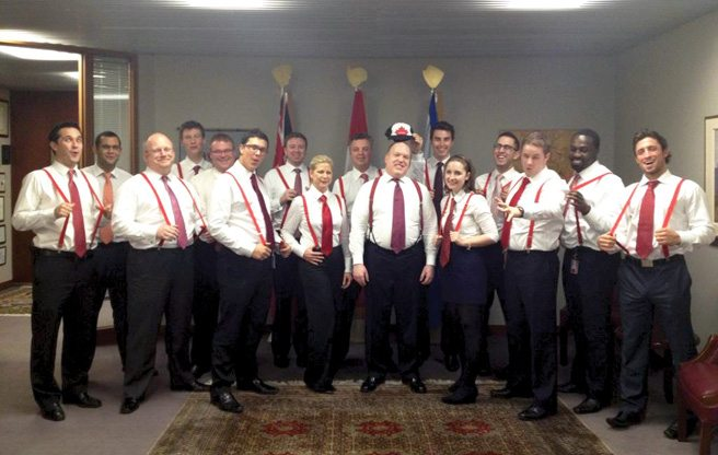 Rob Ford Photo LOLz: The Mayor's Smiling, Suspender-Clad Staff Before The Exodus