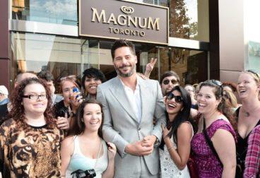 Actor Joe Manganiello Visits The Magnum Pleasure Store In Toronto To create A Custom Ice Cream Bar