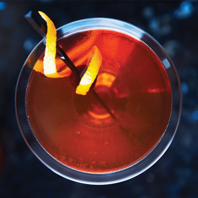 Recipe: a classic manhattan with a citrusy twist from the Park Hyatt Roof Lounge