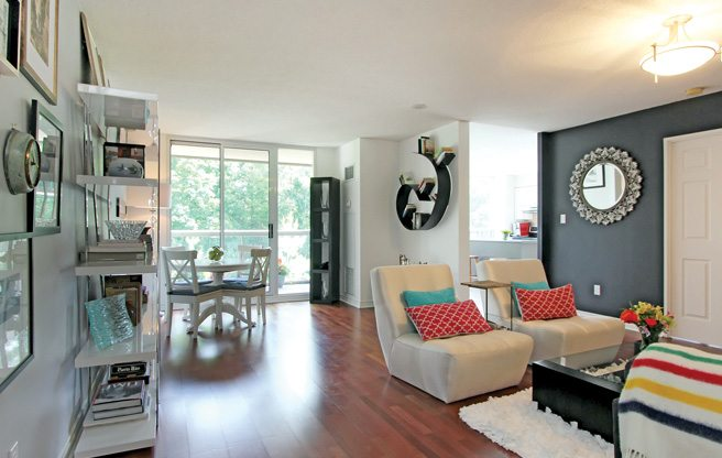 Condo of the Week: $620,000 for a corner suite overlooking a tree-lined trail in Davisville