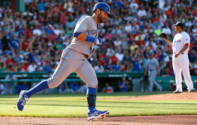 Reason to Love Toronto: because Blue Jays slugger Jose Bautista plays his best ball in R.A. Dickey's pants