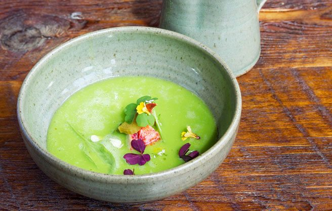 Must-try: The Grove's chilled pea soup packs a sweet, herbaceous punch