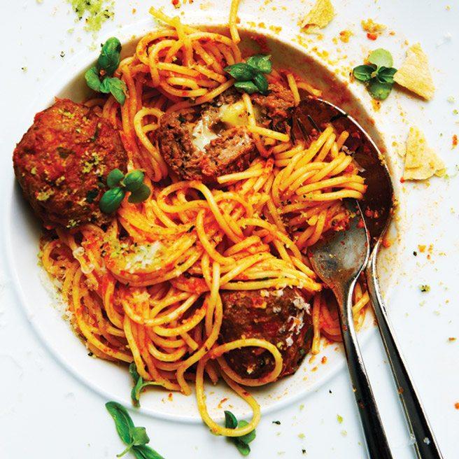 Toronto Life Cookbook Recipe 2012: Spaghettini and Mozzarella Meatballs