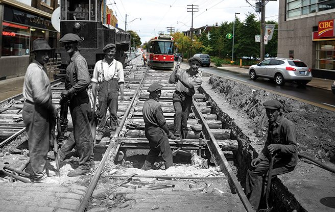 Current Obsession: time-warp photographs that blend Toronto's past and present