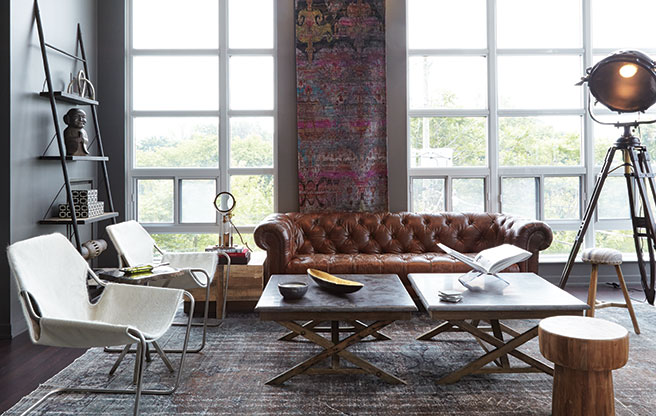 Great Spaces: Jamie Metrick of the Elte clan raided the store's showroom to decorate his condo