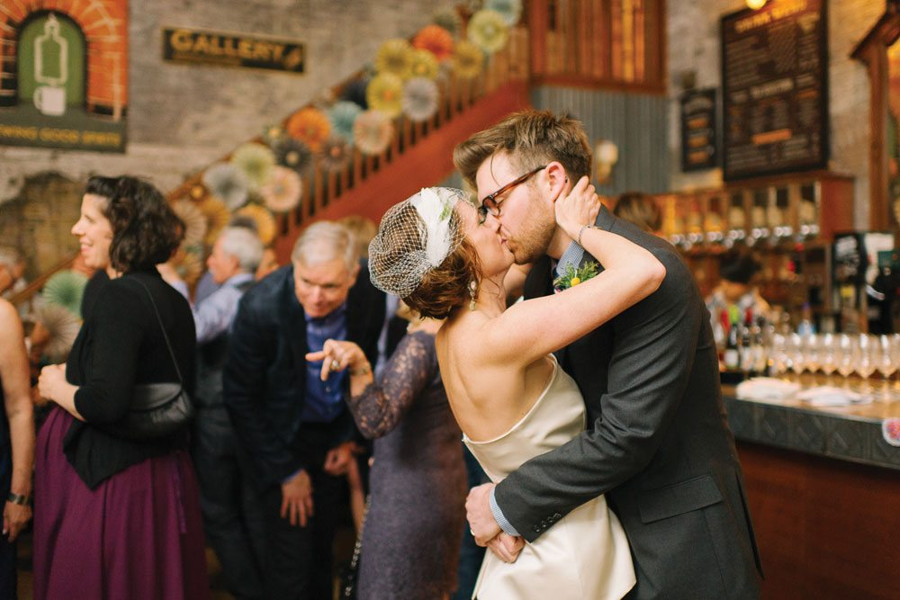 Real Weddings 2013: a Distillery District wedding with karaoke, temporary tattoos and a pickle bar