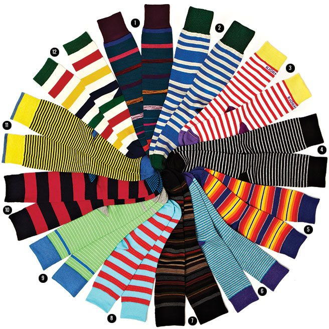 The Thing: striped socks that will make you want to cuff your pants