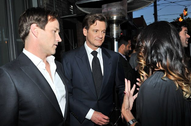 Colin Firth and Stephen Moyer attend pre-drinks with Atom Egoyan at Hudson Kitchen