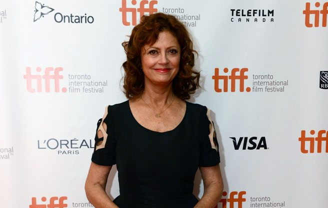 TIFF Party: Susan Sarandon hides in a corner booth at the after-party for The Last of Robin Hood