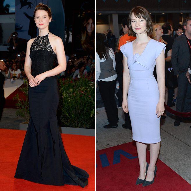 Venice vs. TIFF Fashion Showdown: Mia Wasikowska Edition