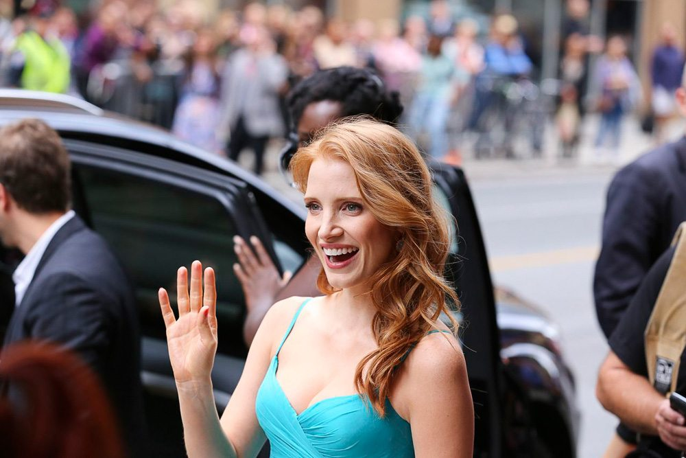 TIFF Red Carpet: Jessica Chastain gets intense about The Beatles at the Disappearance of Eleanor Rigby premiere