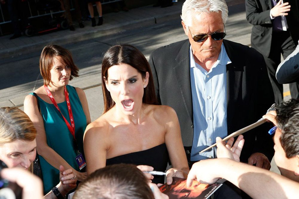 TIFF Red Carpet: Sandra Bullock gets animated at the gala for space drama Gravity