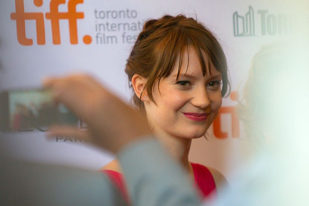 TIFF Red Carpet: Mia Wasikowska goes stag to the screening of Aussie-set drama Tracks