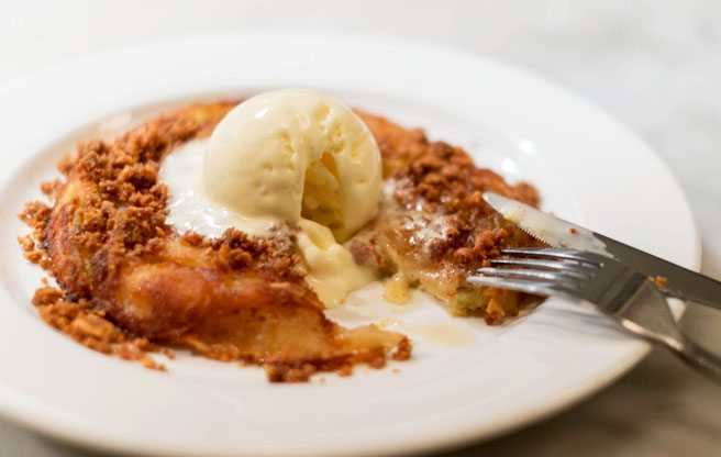 Must-Try: The Black Hoof's apple skillet cake has a surprisingly salty topper