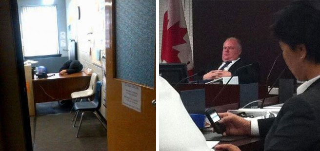Quoted: Mayor Rob Ford on whether or not he sleeps on the job
