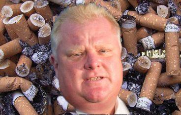 Rob Ford Cigarettes