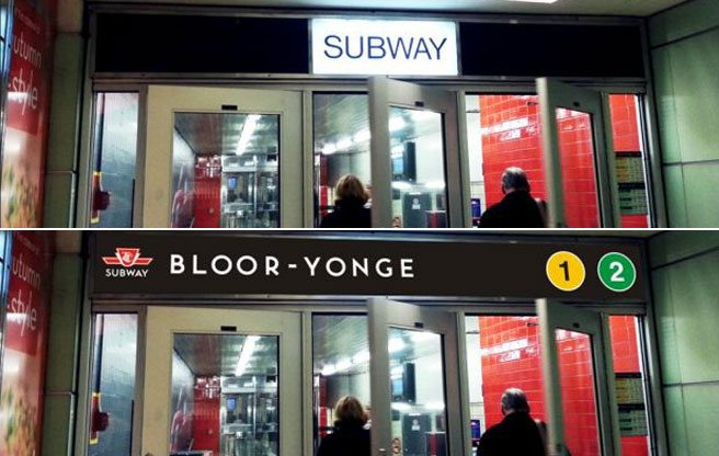 PHOTO: How Bloor-Yonge station will look if the TTC renames its subway lines