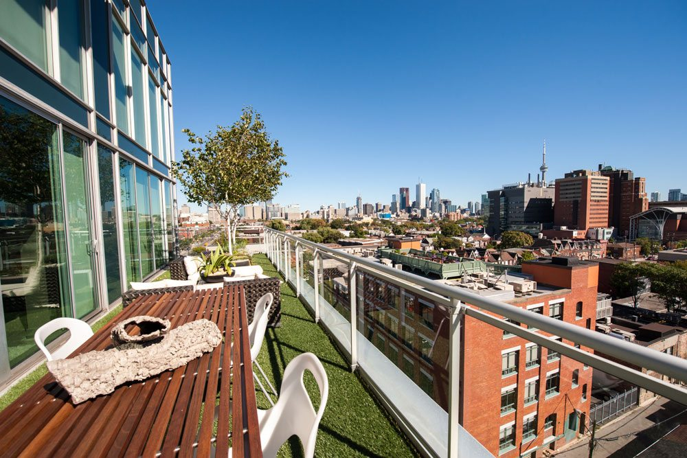 Condo of the Week: $1.1 million for a Little Italy penthouse with a dramatic catwalk and a roomy terrace