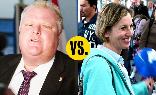MAYOR OR MAY NOT: Karen Stintz and Rob Ford kick off a year of pre-election bickering