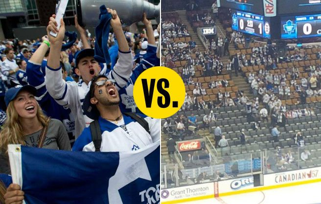 Jerseys vs. Suits: Tim Leiweke's plan to get real Maple Leafs fans into the rink-side Platinum Club seats