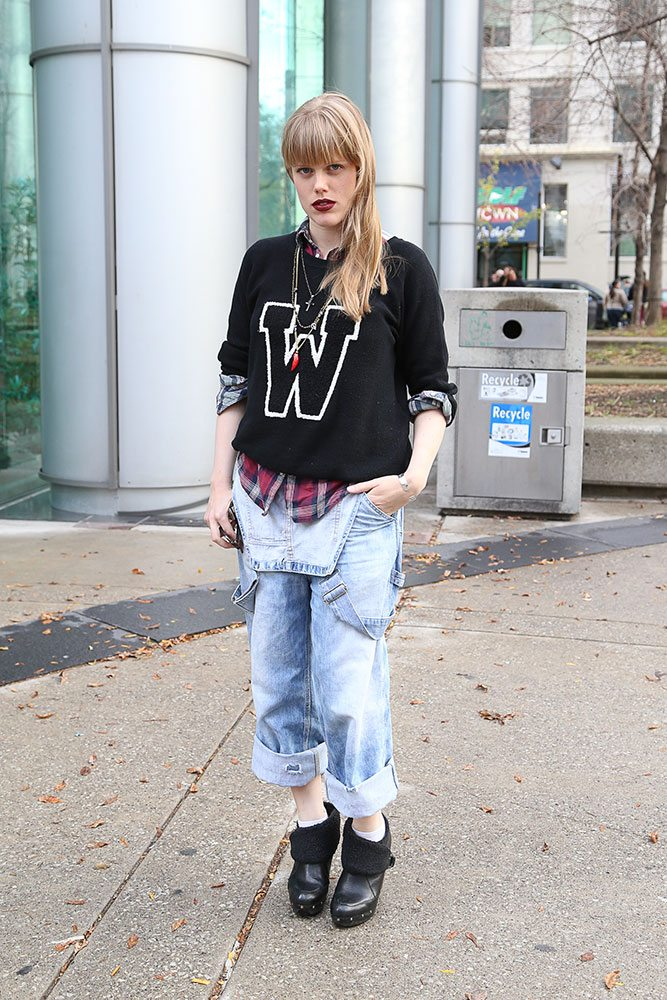 Street Style Trend Report: worn-in jeans get fancied up for Toronto Fashion Week