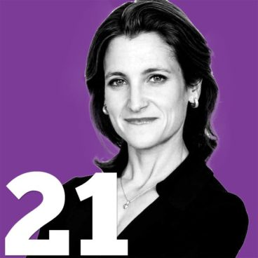 The 50 Most Influential People in Toronto: 21. Chrystia Freeland
