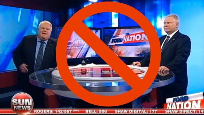 Sun News cancels Doug and Rob Ford's TV show, Ford Nation, after only one broadcast
