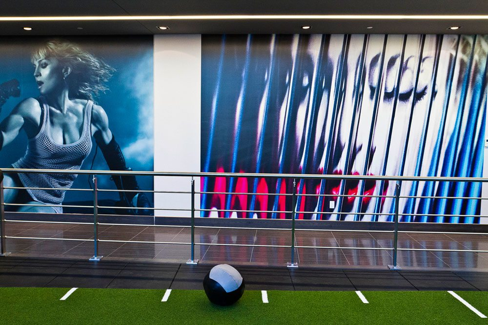 SLIDESHOW: A tour of Madonna's new Toronto gym—which is full of close-ups photos of her face