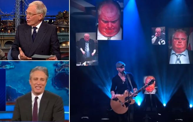 VIDEOS: Watch Letterman, Stewart, Colbert and other late-night talk show hosts joke about Rob Ford (again) on November 19