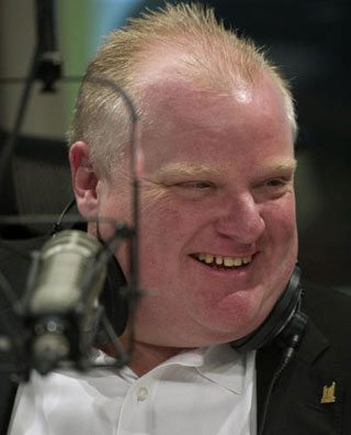 Did Rob Ford use a fake name to call a talk radio show last night?