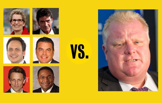 The 10 most unbelievable quotes from the past 36 hours of Rob Ford insanity, from Charlie Sheen to Kathleen Wynne